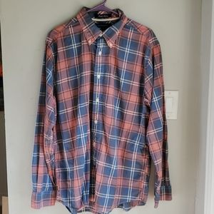 Tommy Hilfiger Island Madras button down shirt L